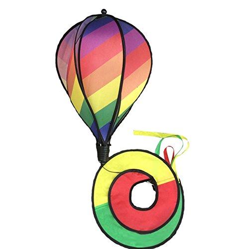 Rainbow Triple roue Spinner avec jeu Moulin a vent Catcher Yard Garden Decor