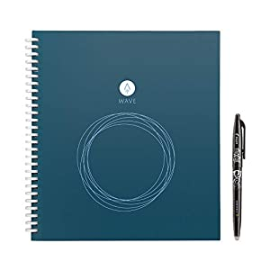 """Rocketbook Wave Smart Notebook - Dotted Grid Eco-Friendly Notebook with 1 Pilot Frixion Pen Included - Standard Size (8.5"""" x 9.5""""), BLUE (WAV-S)"""