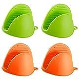 Guantes de silicona resistentes al calor para ollas de cocina con protector...