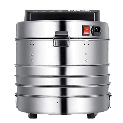 Review Food Dehydrator Fruit-Meat Dryer with Temperature Control, 3 Trays/5 Trays, Stainless steel t...