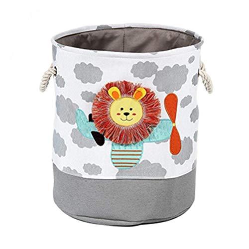 HDDFG Canasta de lavandería, Canasta de Ropa Sucia, León, Jirafa, Juguetes para niños, cesto de Almacenamiento de Dibujos Animados, electrodomésticos de Almacenamiento Plegable