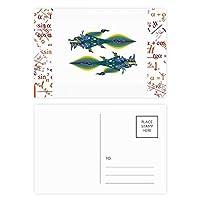 枝の葉の青いオウム 公式ポストカードセットサンクスカード郵送側20個