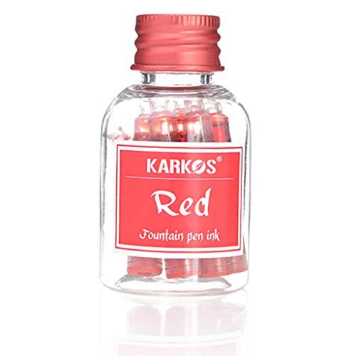 YOURPAI 1 Botella Colorida 1 ml Cartucho de Tinta recargas Tinta Pluma estilográfica papelería Escolar Rojo