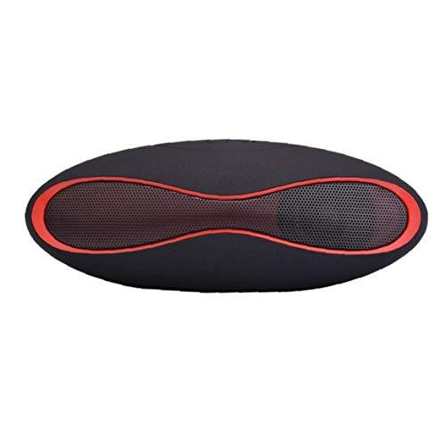 Tragbare Bluetooth-lautsprecher Rugby Geformt Lautsprecher Smart Speaker-karte Wireless Mini Klein Ton Kompatibel Mit Computer-handy-schwarz