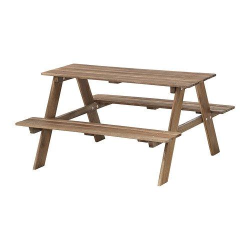OnlineDiscountStore RESÖ IKEA Kinder-Picknicktisch grau-braun gebeizt