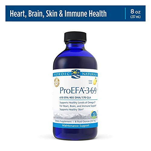 Nordic Naturals ProEFA 3-6-9, Lemon Flavor - 1270 mg Omega-3-8 oz - EPA & DHA with Added GLA - Healthy Skin & Joints, Cognition, Positive Mood - Non-GMO - 48 Servings