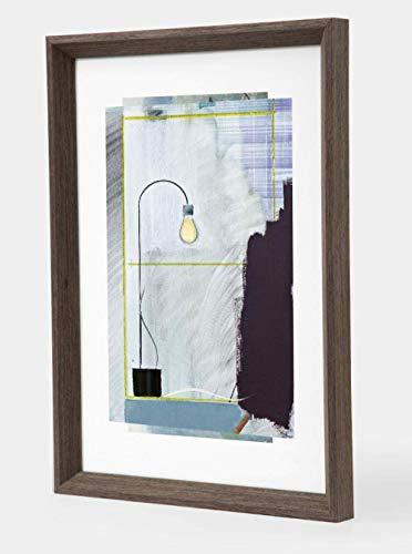 ZYYH Imagen Marcos de Fotos Recuerdo Marco de Fotos de Madera Maciza Colgante de Pared 29,7 y Veces; 42 cm Madera Oscura