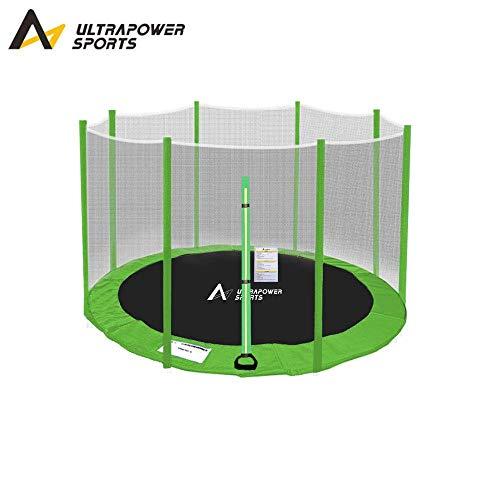 ULTRAPOWER SPORTS Filet de sécurité Rechange & Coussin de Protection des Ressorts pour Trampoline 244cm 305cm 366cm 397cm 427cm - Vert 244cm