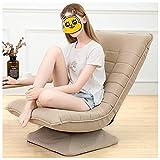 Sedia Da Terra con Divano Pigro | Silla de cama ajustable (grueso y artículo Múltiples colores disponibles sillón de lectura), la silla plegable for la meditación, la lectura, ver, Video-Juegos, Adult