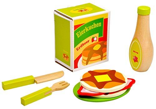 Preisvergleich Produktbild Idena 4100106 - Kleine Küchenmeister Eierkuchen - Set aus Holz,  ca. 20 x 18 x 6 cm,  9-teilig
