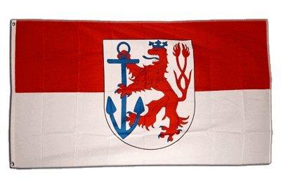 Fahne / Flagge Deutschland Stadt Düsseldorf + gratis Sticker, Flaggenfritze®