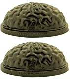 Halloween Plastic Brain Jello Dessert Mold, 8 3/8 Inch, Set of 2