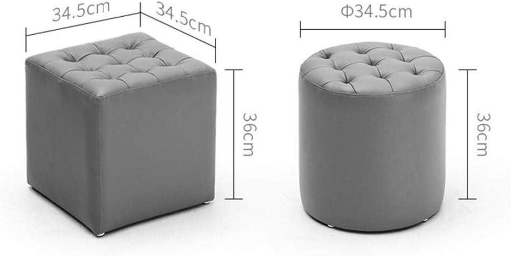 A/N Pouf Chaise carré Pouf Chaise - Tabouret de canapé de Style européen Petit Quai Circulaire armoires de Chevet Tabouret de Salon-# 2 # 11