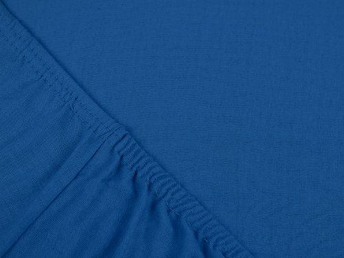 #13 npluseins Kinder-Spannbettlaken, Spannbetttuch, Bettlaken, 70×140 cm, Royalblau - 4