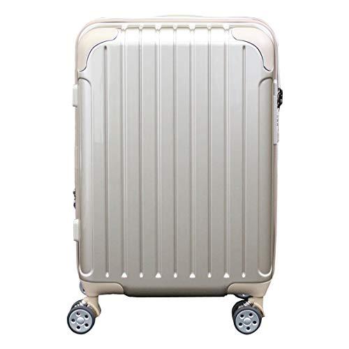 [シフレ] スーツケース 4輪 機内持ち込み 42L 48.5cm 3.1kg スカイラボ SKY2145-48 拡張 LCC対応 メタリックゴールド