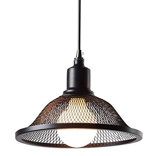 HLY Lámparas colgantes Candelabro de hierro forjado - Lámpara de techo de accesorio ajustable de estilo industrial retro, Restaurante Bar Café Cubierta de altavoz creativo Candelabro de un solo cabez