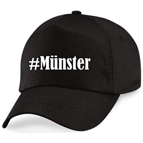 Reifen-Markt Base Cap Hashtag #Münster Größe Uni Farbe Schwarz Druck Weiss