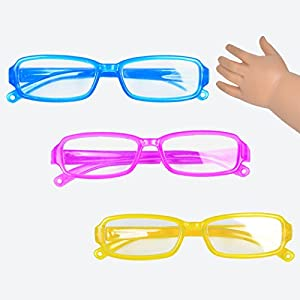 Doll Glasses For 18 Inch American Girl Package: 1*Pink Glasses+1*Blue Glasses+1*Yellow Glasses only Sell Doll Glasses ,Dll is not include in package. 2 shipping way for choice. (Fulfillment by Amazon):Get it in 1-3 days. (Fulfillment by Ebuddy):ship ...