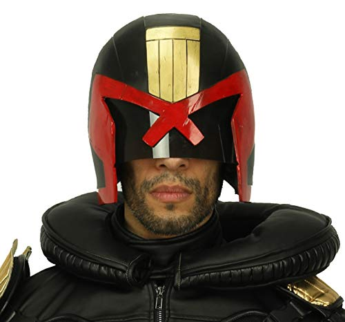 Xcoser Judge Dredd Helmet Mask Costume Props Accessories for Halloween Cosplay
