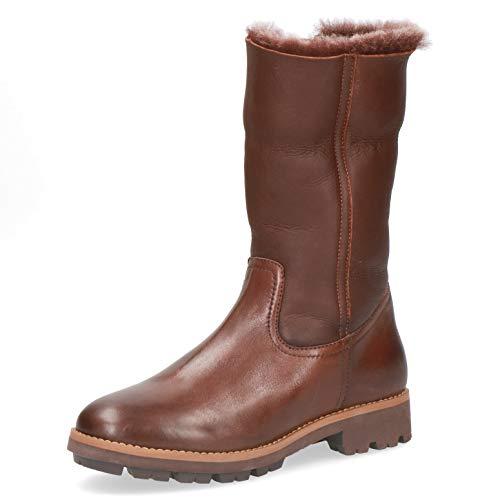 CAPRICE Comfort Damen Stiefel 26426-23, Frauen KlassischeStiefel, lederstiefel langschaftstiefel reißverschluss Dame-n,Cognac Comb,41 EU / 7.5 UK