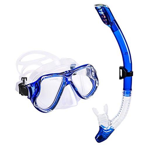 UPhitnis Maschera Snorkeling Set Adulto Anti-Nebbia Set...