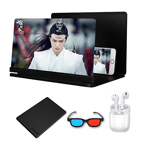 DevileLover Ampliador de Pantalla Zoom de 3 a 4 Veces 3D 24 Pulgadas Amplificador Universal de Pantalla del Teléfono Móvil HD Luz Anti-Azul Proteger los Ojos Lupa de Pantalla de teléfono