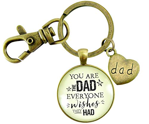 Gutsy Goodness Father Keychain You Are The Dad Gift From Adult Daughter Son