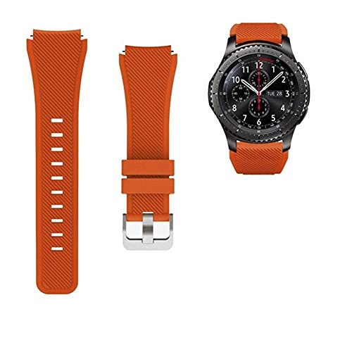 Correa para Samsung Galaxy Watch 3 46mm Gear S3 Frontier A BIP/Pulsera activa 20 / 22mm Watch Band Huaw Watch GT 2 / 2E 42mm 10688 (Band Color : Apricot orange 20, Band Width : 22mm)
