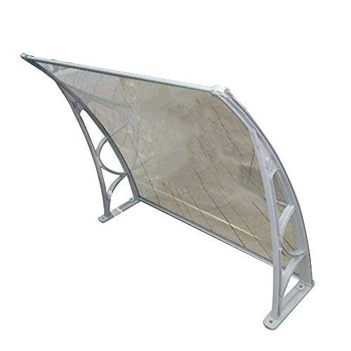 LRZLZY Rain Snow For Outdoor Patio Furniture Protect Doorway, 2.7mm Transparent Polycarbonate Sheets + Gray Bracket (Size : 60CMX120CM)