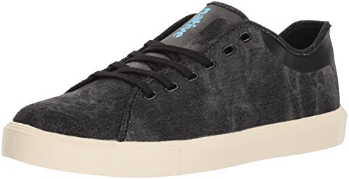 Native Shoes Men's Monte Carlo Denim Sneaker, Jiffy wash/Bone White, 4 Men's M US