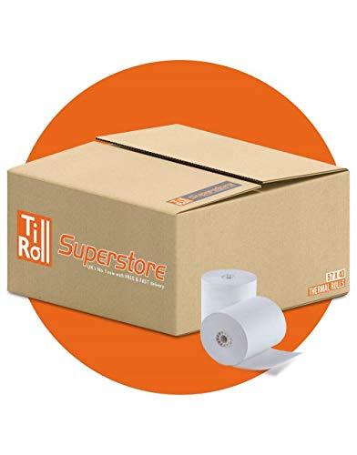Caja con 20 rollos de papel térmico (57 mm x 40 mm) para datáfono