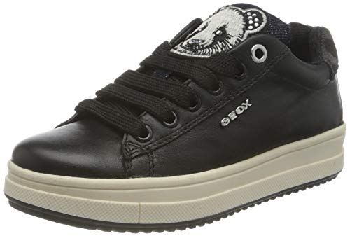 Geox J Rebecca Girl F, Baskets Fille, Noir (Black), 37 EU