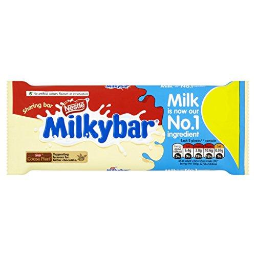 Nestl? Milkybar White Chocolate Sharing Bar 100 g (Pack of 12)