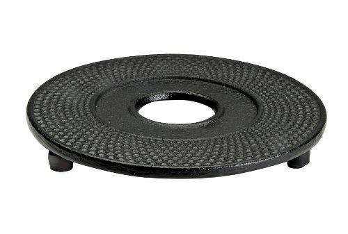 IBILI Teekannen-Untersetzer Oriental aus Gusseisen, schwarz, 13 x 13 x 7 cm