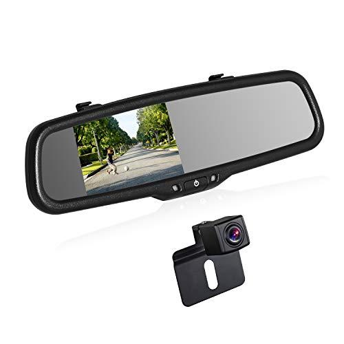 Boscam K2kit telecamera posteriore senza fili, monitor come specchietto retrovisore e visione notturna con impermeabilità universale