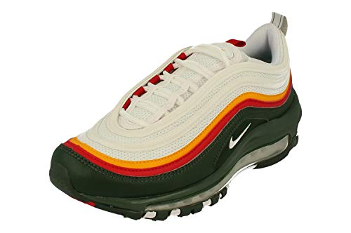 Nike Air Max 97 Lea, Chaussure d'athltisme Homme, Multicolore (White Dynamic Yellow Evergreen 000), 38.5 EU