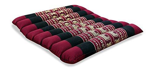 livasia SITZKISSEN, Kapok Sitzkissen 35x35x4cm, optimal als Stuhlauflage oder Meditationskissen, Bodenkissen BZW. Stuhlkissen