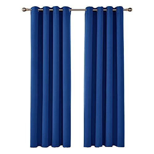 UMI. by Amazon Tende Oscuranti Termiche Isolanti con Occhielli per Casa 140x280cm Blu Elettrico 2 Pezzi