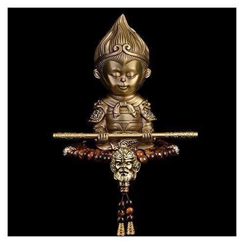 SERBHN Decoración De La Estatua De Buda Buda Ídolo para El Coches Dashboard Creativo Regalo Adornos De Coches Buda Estatua + Pulsera Latón Estatuas Budistas