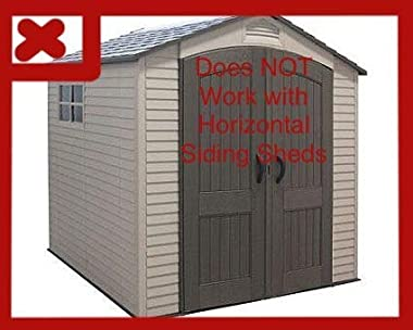 Tool Hook for Vertical Siding Lifetime Shed—Click to See Models it Fits! (Compatible with Most Vertical Siding, Doesn't W
