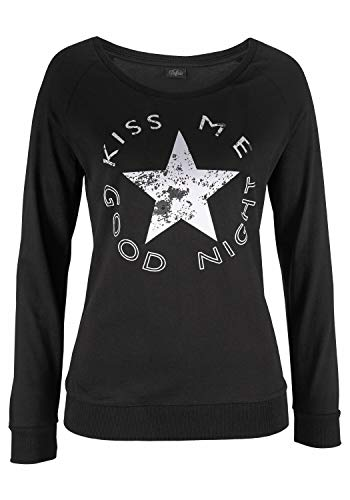 Buffalo Damen Pyjama mit Sportiver Hose & Shirt mit Sternprint