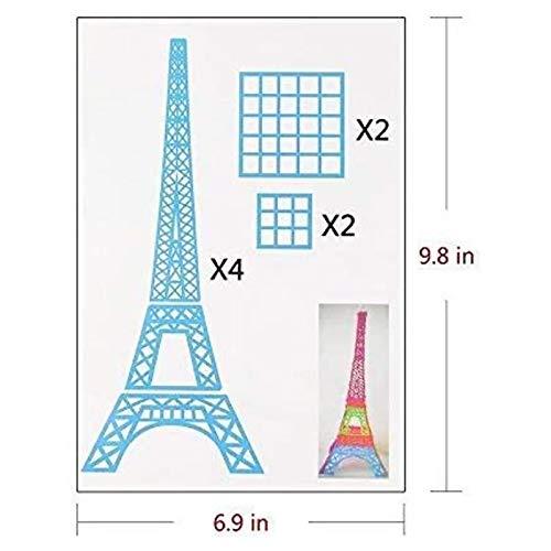 3D Pen Schablonen,3D Pen Stencils 3D Drucker Stift Papier Stencils/ 20 Seiten Verschiedene Papier Patterns/ New Design Papier Formen für 3D Druck Feder,3D-Zeichnungs Feder und 3D Gekritzel Feder/ 3D-Modellbau Arts & Crafts Zeichnung/ Bunte 3D Druckmuster. - 7