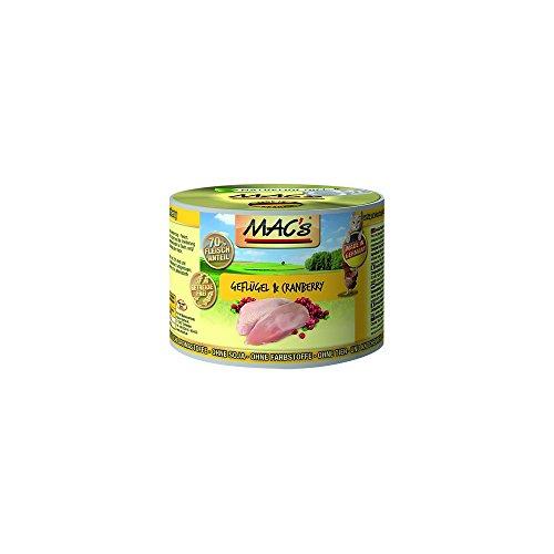 Mac's Katzenfutter getreidefrei Geflügel & Cranberry, 800 g