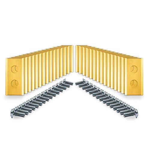 LoHaG – Worx Landroid - Mähroboter Ersatzmesser Klingen + Schrauben, Rasenroboter Messer mit Titancarbit Legierung - Rasenmäher Ersatzklingen Titan [30 Stück]