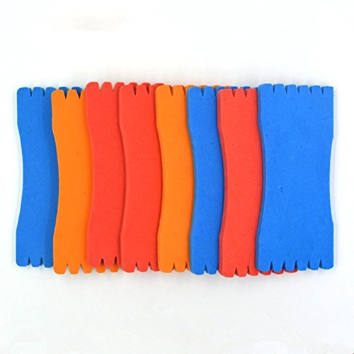 WINOMO 10 Stück Schaum Schwamm eingewickelt Draht Angeln Wicklung Board Angeln Line Board Spool Fishing Line Zubehör (zufällige Farbe)