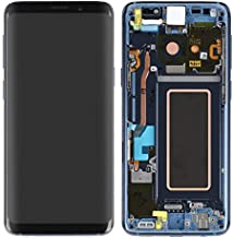 ePartSolution_Replacement Part for Samsung Galaxy S9 Plus SM-G965 LCD Display Touch Screen Digitizer Glass + Frame Assembly USA (Blue)