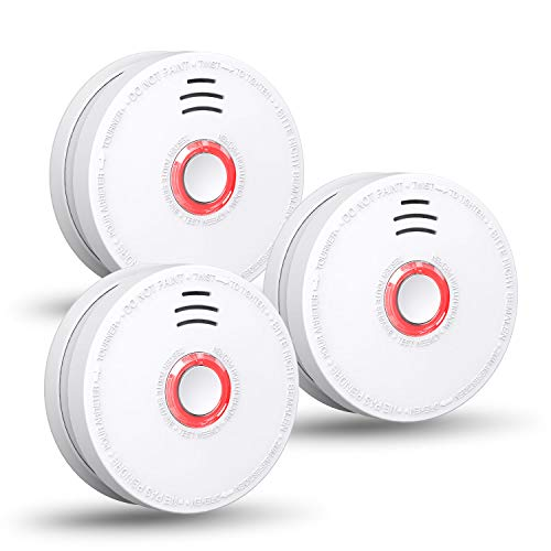 SITERWELL 3 Packs Photoelectric Smoke Detector amp Alarm9V BatteryOperatedNot Hardwired Smoke and Fire Alarm/Detector with Test Button Photoelectric Fire Dector/Alarm UL ListedGS528A