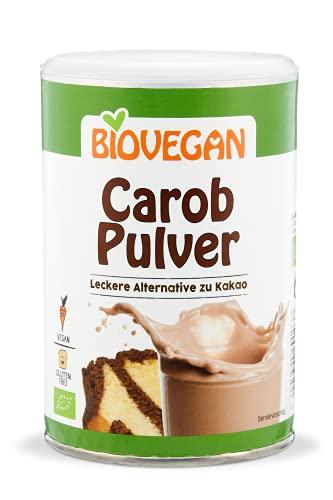 Biovegan Bio Carob Pulver, leckerer Kakao-Ersatz, 4x 200g (800g), süß-aromatischer Geschmack, aus Johannisbrotbaumschoten, vegan und glutenfrei
