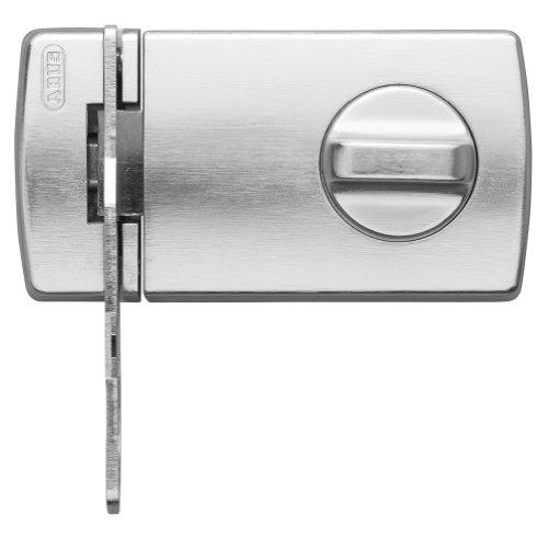 Abus 2130 S B - Cerrojo de Sobreponer de botón con cilindro de serreta y retenedor plata blister
