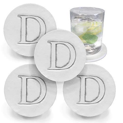 Drink Coasters - Letter Regular 25% OFF dealer D by Absorbent McCarter set Handmade